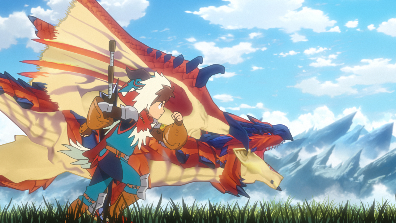 Anime Characters Monster Hunter World : Monster hunter stories ride on anime first trailer and
