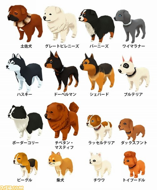 Story Of Seasons Trio Of Towns Breeds Of Dog