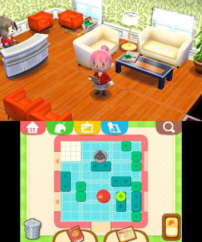 Ac happy home designer new screenshots tv commercial video for the collectors album for Animal crossing happy home designer hotel
