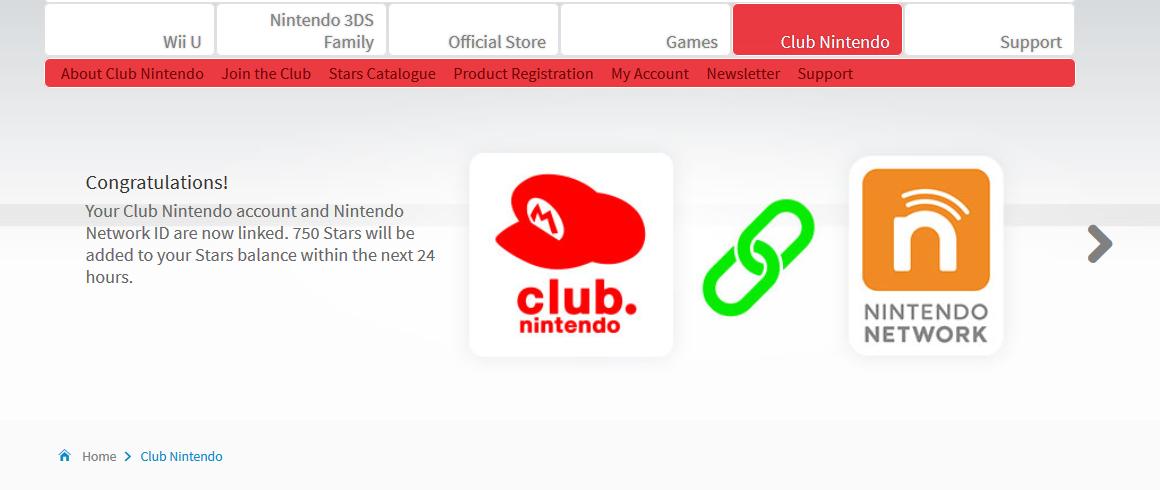 nintendo club login