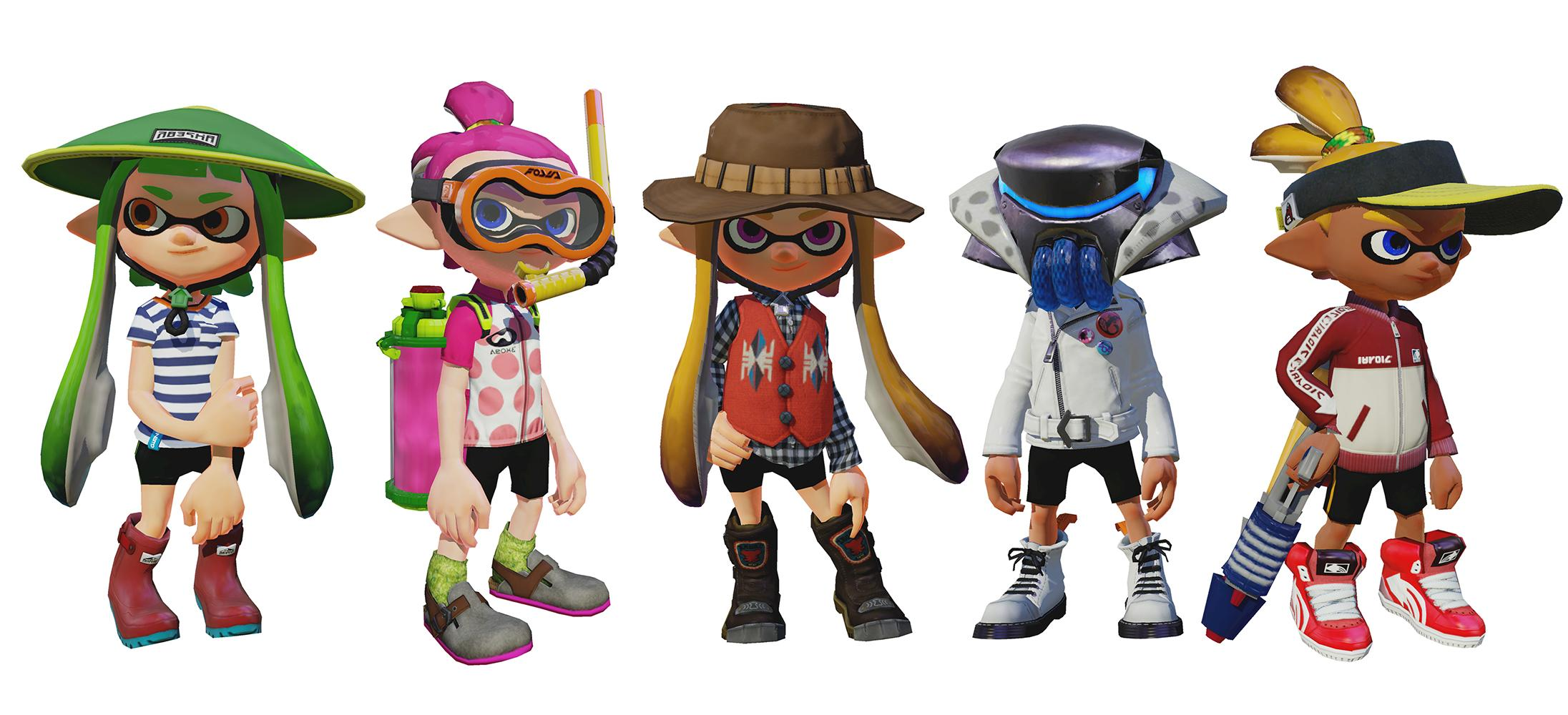 Splatoon Preview Of Some Of The New Gear Including The