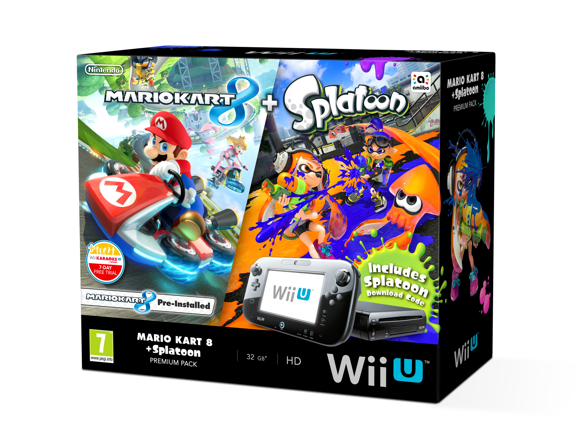 wii u bundle with mario kart 8 splatoon coming to europe on october 30th perfectly nintendo. Black Bedroom Furniture Sets. Home Design Ideas
