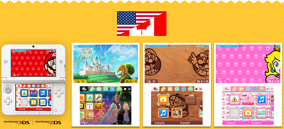 north america nintendo 3ds themes of the week august 18th