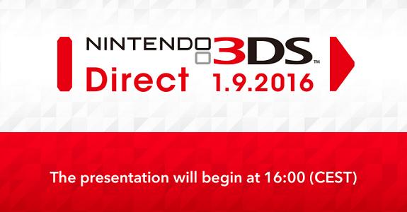 Nintendo 3DS Direct 1.9.2016