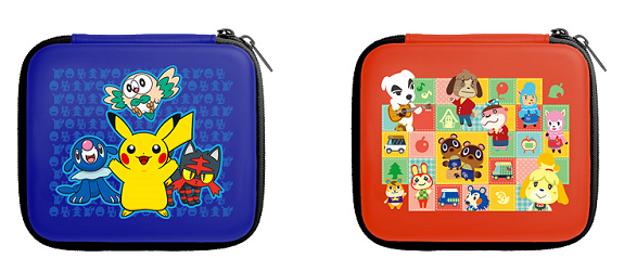 japan official mario pok mon animal crossing 2ds pouches releasing in december perfectly. Black Bedroom Furniture Sets. Home Design Ideas