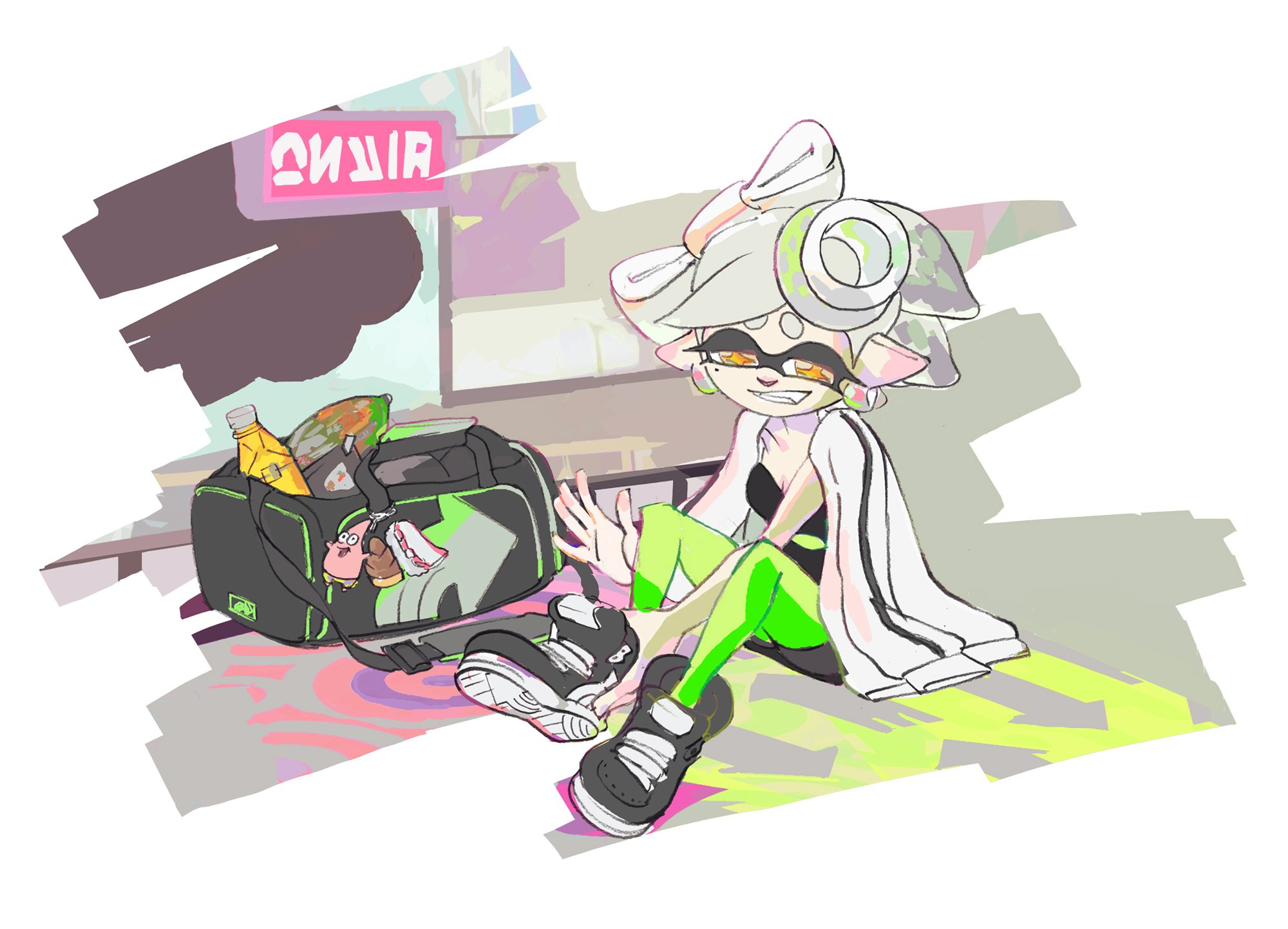 splatoon illustrations for the last splatfest pv for callie