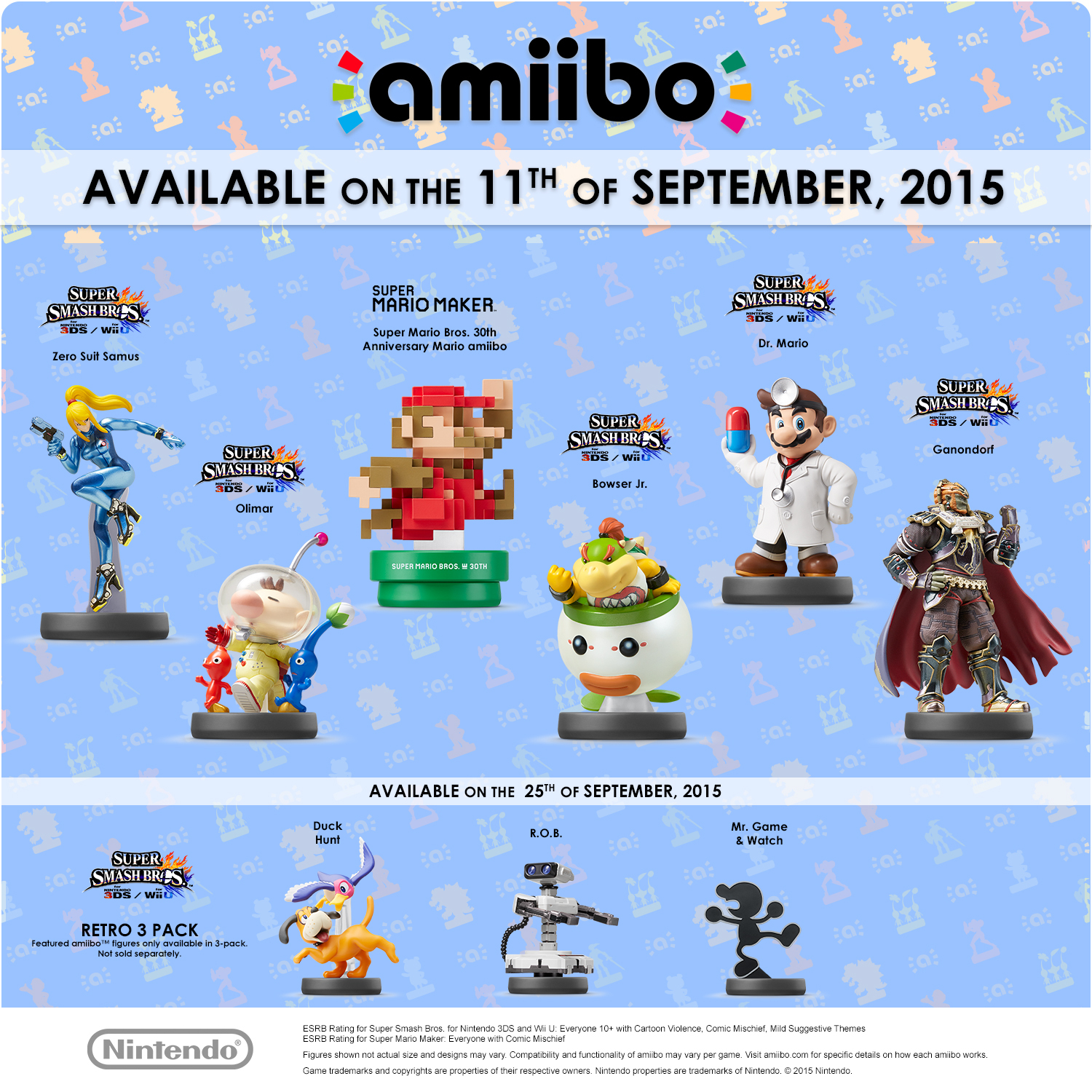 amiibo release dates for the september line up north america