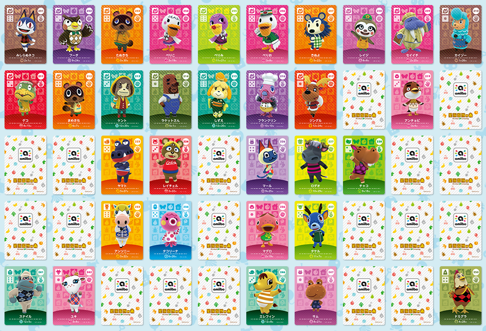 Japan: third wave of Animal Crossing amiibo cards coming out on