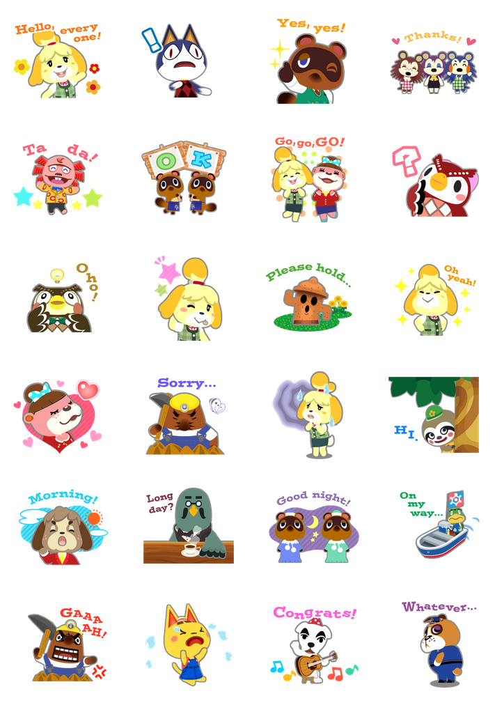 Nintendo: Animal Crossing stickers now available on LINE