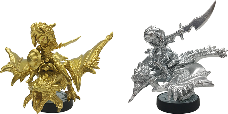 amiibo: world's rarest two amiibo to be given as prizes at ... Gold Rathian And Silver Rathalos