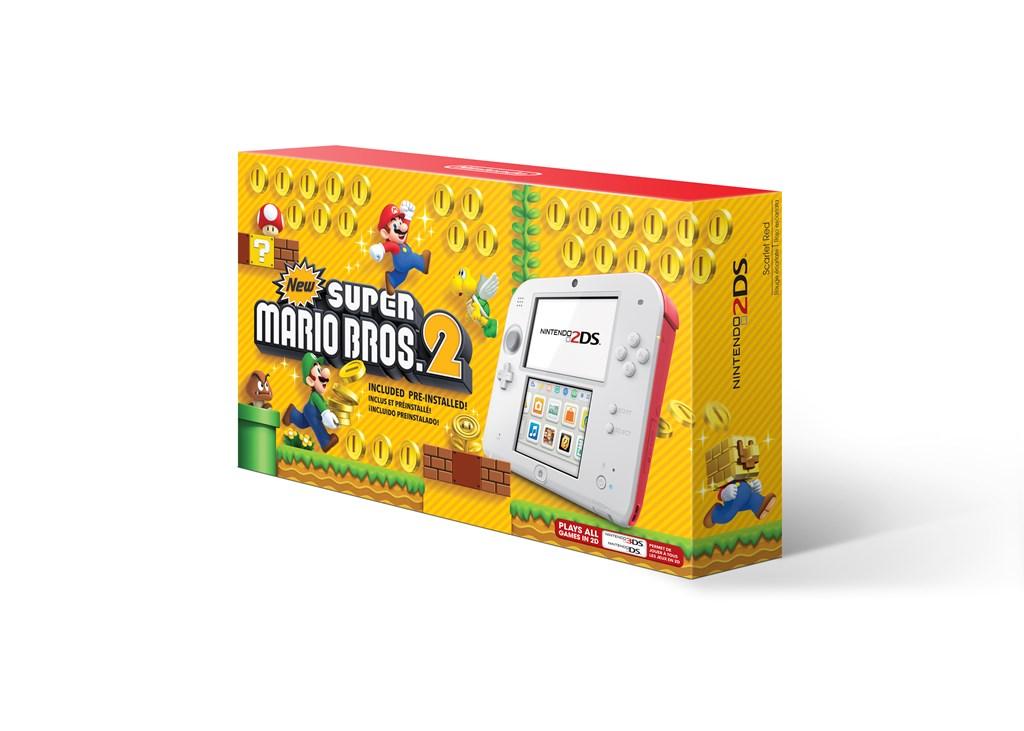 North America White X Red Nintendo 2ds New Supermario Bros 2