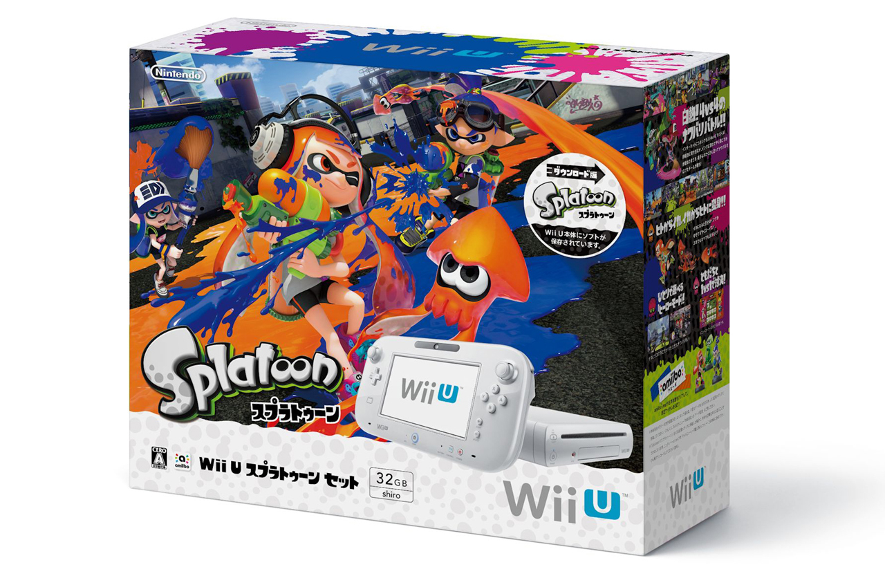 japan splatoon wii u premium set to be released on november 12th