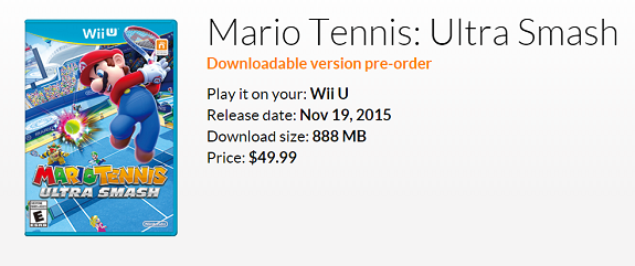 Mario Tennis Ultra Smash digital