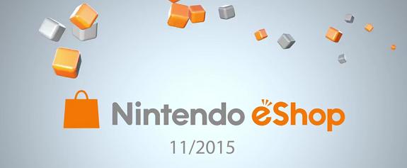 Nintendo eShop November 2015