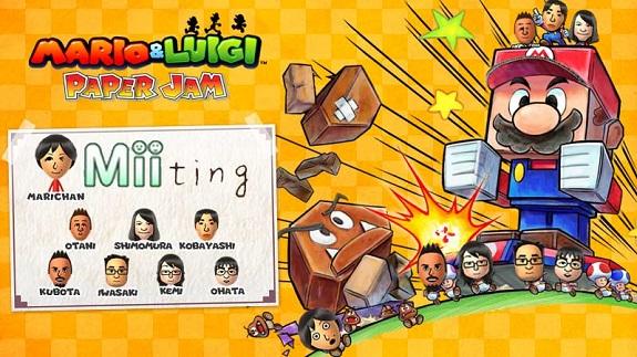 Mario & Luigi Paper Jam Bros. Miiting