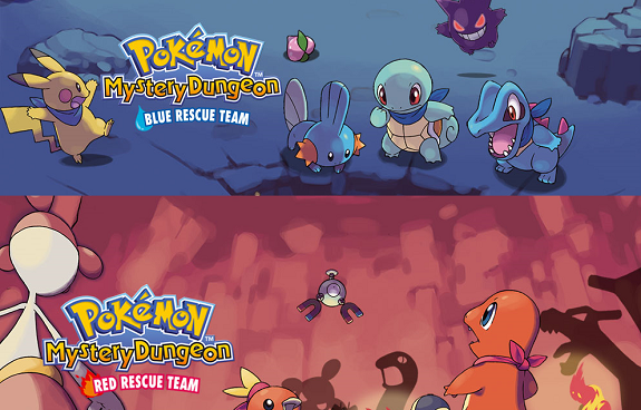 Eu Pokemon Mystery Dungeon Red Blue Rescue Team Ds Gba