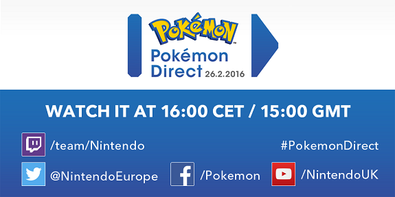 Pokemon Direct February 2016