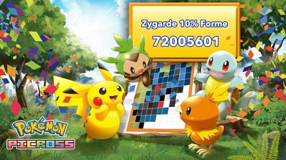 Pokemon Picross Zygarde