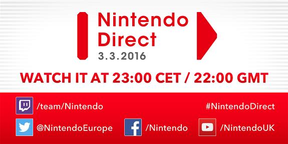Nintendo Direct 3.3.2016