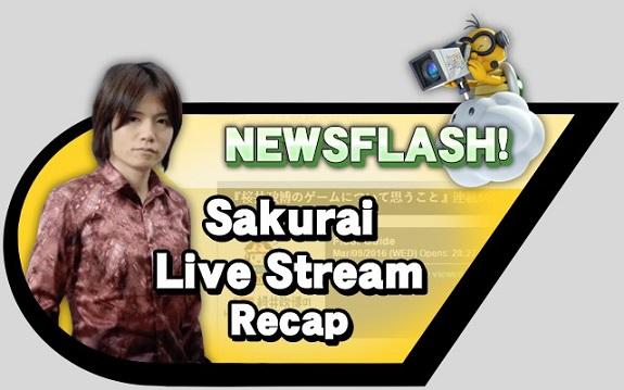 Sakurai-Livestream-recap