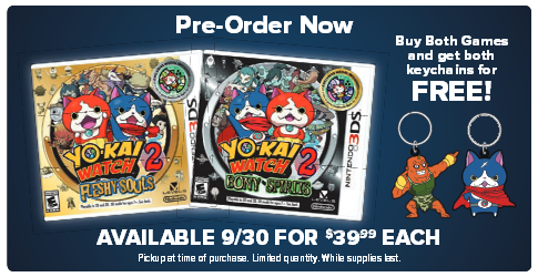 Yo-kai Watch 2 Gamestop