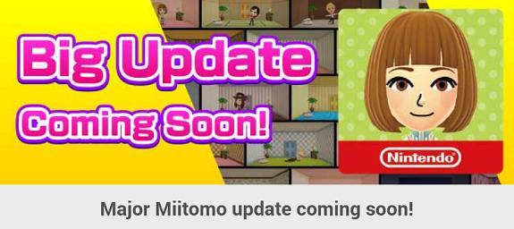 Miitomo update