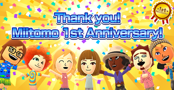 Miitomo 1st Anniversary