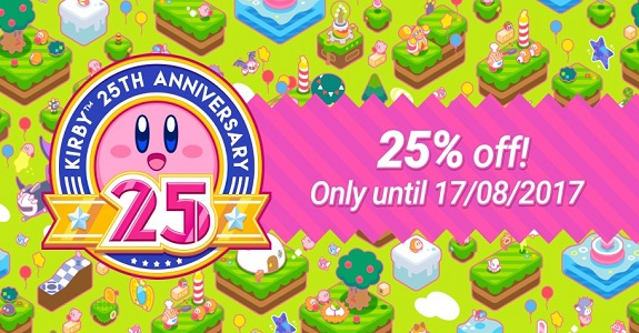 Kirby 25th Anniversary sale (Europe)