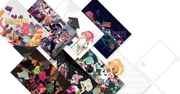 Splatoon 2 postcards