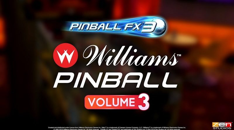 Williams Pinball Vol 3 Pinball FX3