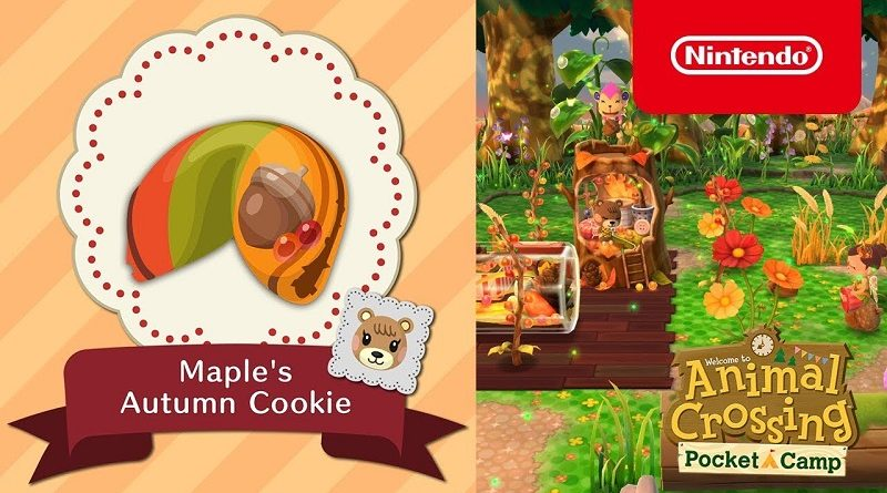 Animal Crossing: Pocket Camp Maple's autumn cookie
