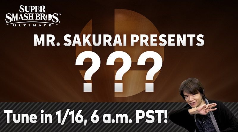 Super Smash Bros. Ultimate presentation January 2020