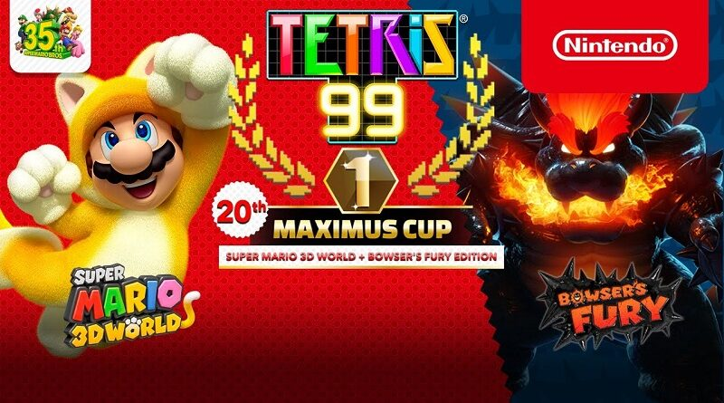 Tetris 99 Super Mario 3D World + Bowser's Fury