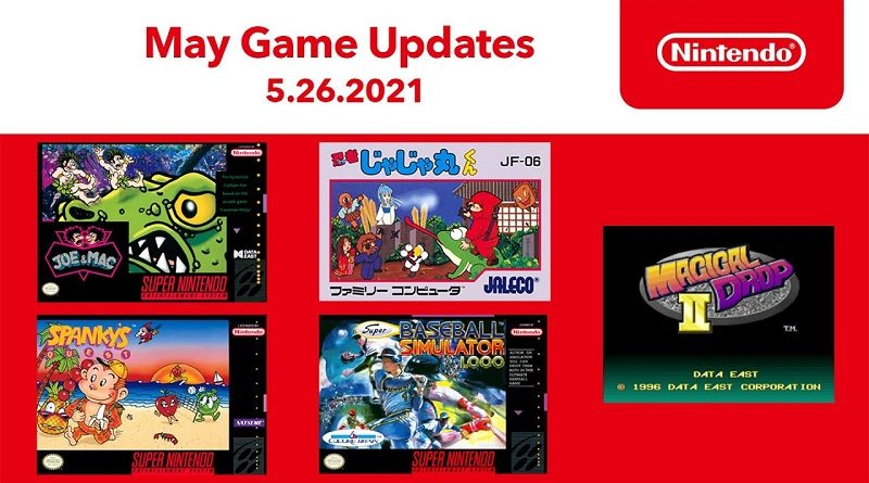 Nintendo Switch Online Games May 2021