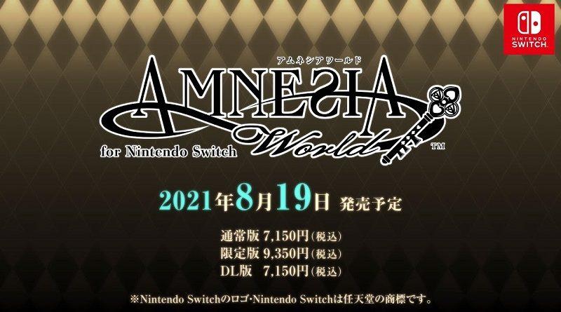 Amnesia World for Nintendo Switch