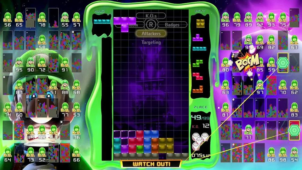 Tetris 99 x Luigi's Mansion 3 Maximus Cup event